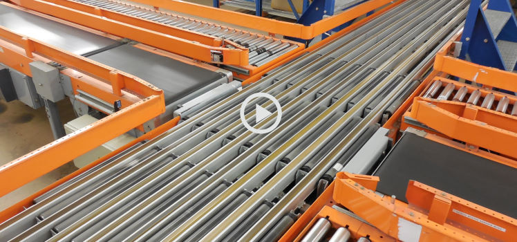 Rollenbaan video Vanderlande Industries