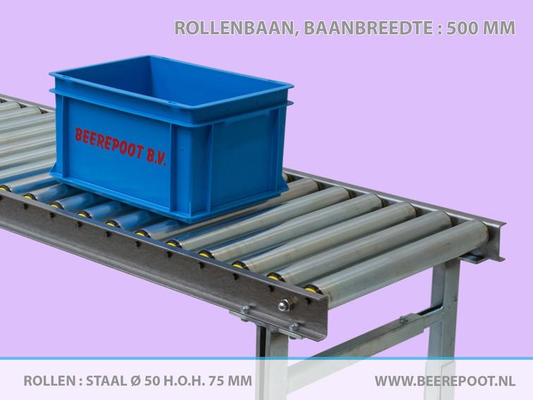 rollenbaan-baanbreedte-500mm-rollen-staal-Ø50-h.o.h.-75mm